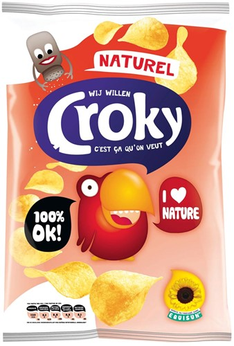 Chips Croky naturel 100gr