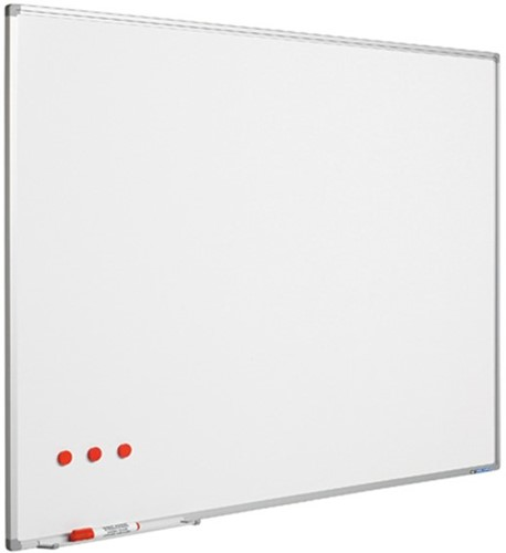 Whiteboard Smit Visual Softline 120x180cm email staal