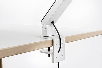 Bureaulamp Luctra Radial Table Pro met tafelklem wit-3