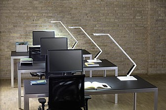Bureaulamp Luctra Linear Table Pro met voet wit-3